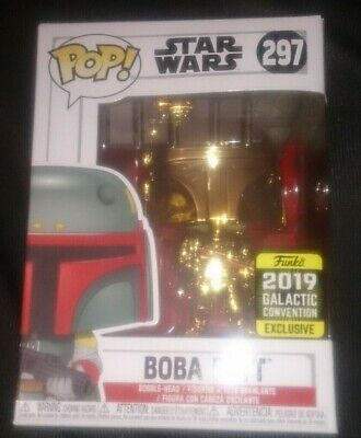 Star Wars Boba Fett #297 Pop Vinyl 2019 Galactic Convention Exclusive