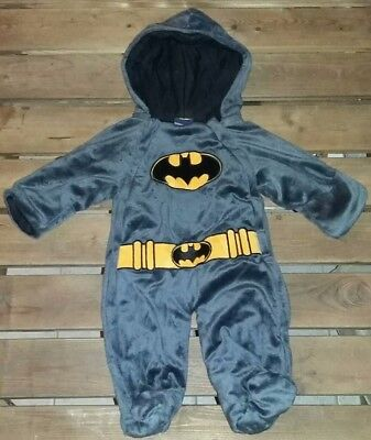 Official DC Comics Batman Warm Plush Baby Hooded Hoodie Costume Size 3 - Warm Baby Costumes