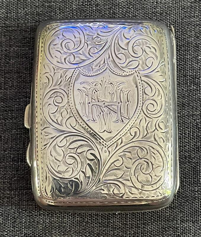 Silver Cigarette Case Joseph Gloster Birmingham 1918 59g