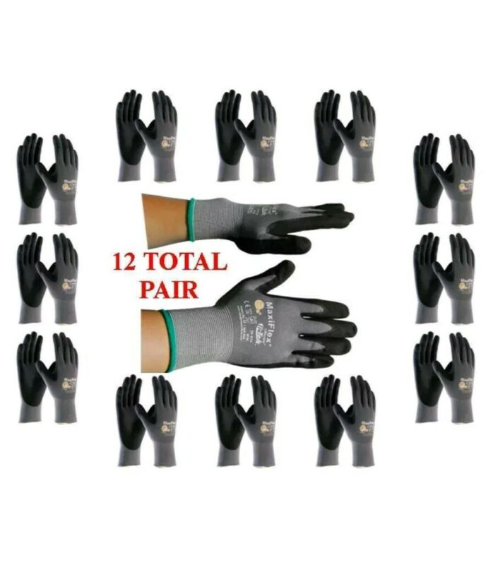 12 PAIR Maxiflex gloves MEDIUM PIP CONDITION  NEW.. FAST SHIPPING.....