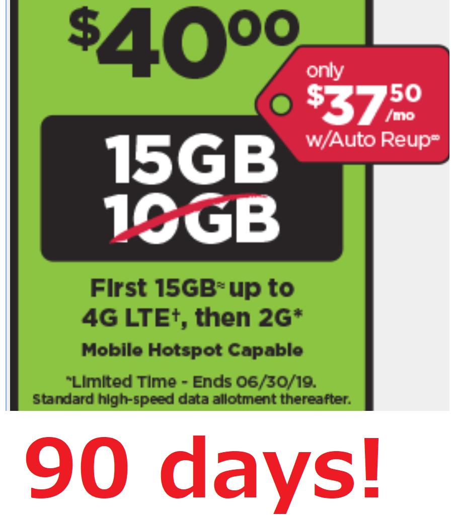 Prepaid Simple Mobile SIM Card 3×$40 plan text/talk/15GB da