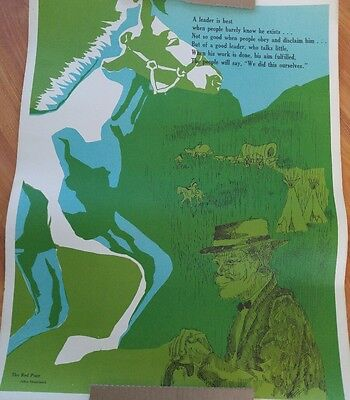 The Red Pony Vintage Classroom Poster (1972)