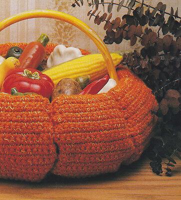 Crochet Pattern ~ PUMPKIN BASKET Halloween Thanksgiving ~ - Crochet Halloween Basket
