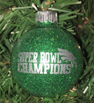 Philadelphia Eagles Super Bowl CHAMPIONS CHAMPS ORNAMENT Hand Made In USA