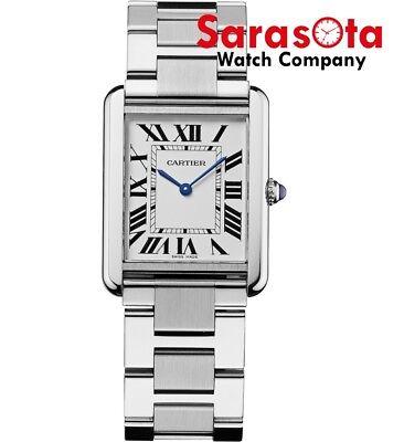 Cartier Tank Solo Large W5200014 Silver Stainless Steel Quartz Wrist Watch