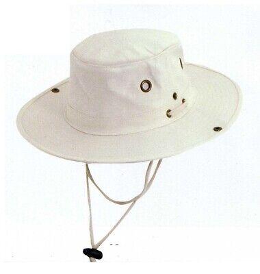 Dorfman 943 NAT  Men Women Canvas Hat Style Tilley Floater Safari Boonie SMLXL Boonie Hat Canvas Hat