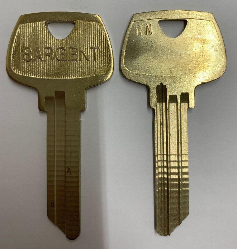 Set of 2: Sargent RN Original Uncut Key Blanks - Sargent