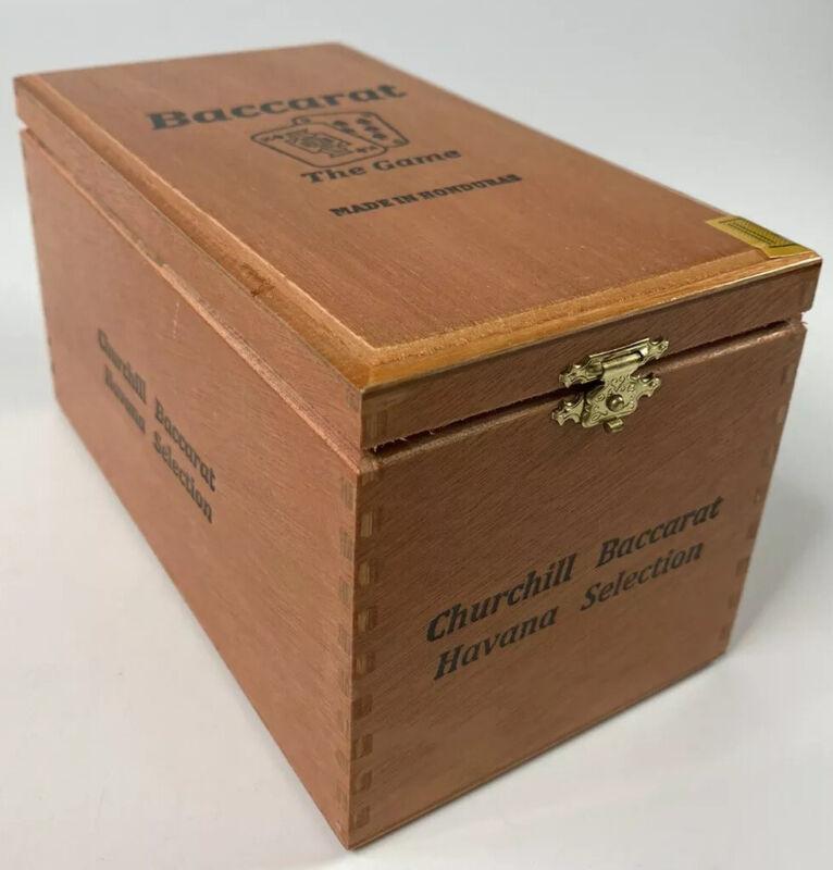 Baccarat The Game Handmade Wood Cigar Box Churchill Baccarat Nice Dovetails