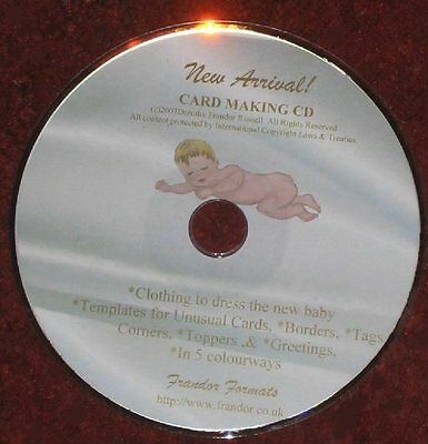 """Card/Paper Craft Baby Templates CD: """"New Arrival"""", MPN CD427 by Frandor Formats"""