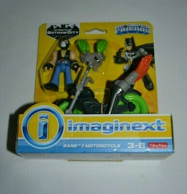 FISHER PRICE IMAGINEXT DC SUPER FRIENDS STREETS OF GOTHAM CITY BANE & MOTORCYCLE