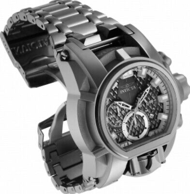 RARE Invicta Bolt Zeus Magnum Dual Dial 2 Movements Watch POLISHED GUNMETAL