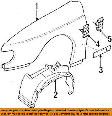 Cadillac GM OEM 97-01 Catera Fender-Molding Trim Left 9119183