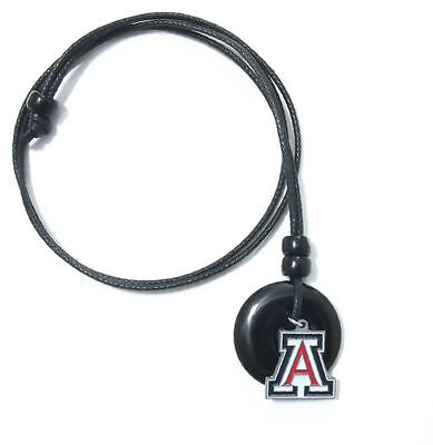 ARIZONA WILDCATS PENDANT ONYX CORD NECKLACE 24301 college sports jewelry ()