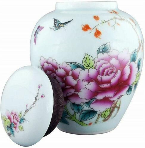 Perfect Memorials White Ceramic Cremation Urn for Ashes Keepsake Urn Burial Urn