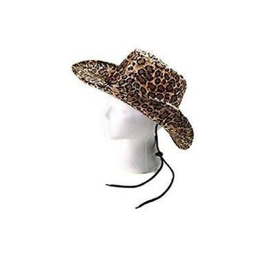 Cowboy Cowgirl Leopard Print Hat Faux Suede Teen Adult](Leopard Print Cowboy Hat)