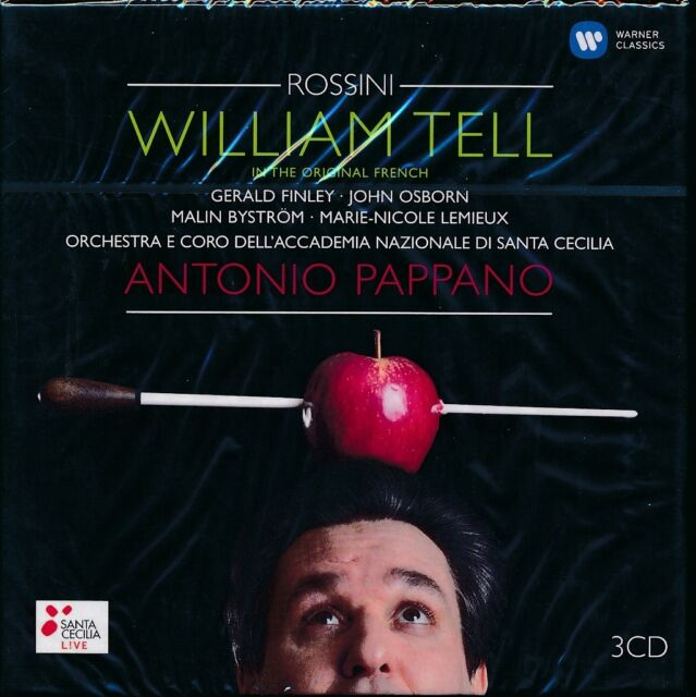 Rossini William Tell In Original French CD NEW Antonio Pappano 3-disc