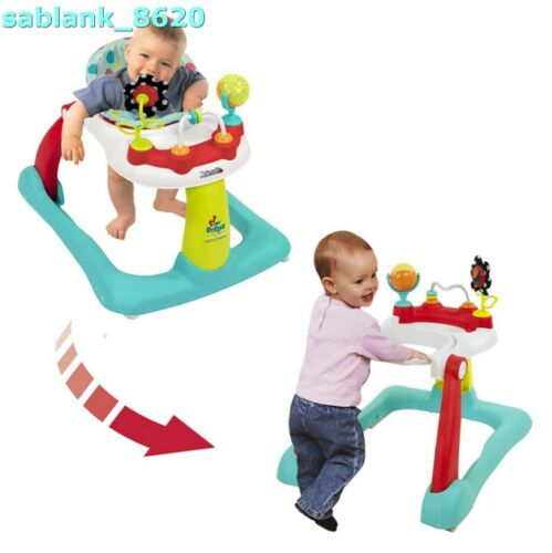 KOLCRAFT Tiny Steps 2-in-1 Infant Baby Activity Walker Seated or Walk Behind NEW