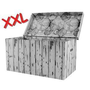 EXTREM GROSSE KISTE TRUHE AUFBEWAHRUNGSBOX SKANDINAVISCHE DESIGN XXXL GPSK2771