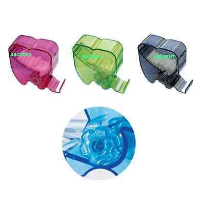 Dental Dentist Cotton Roll Dispenser Holder Case Rotary Type See-through 3colors