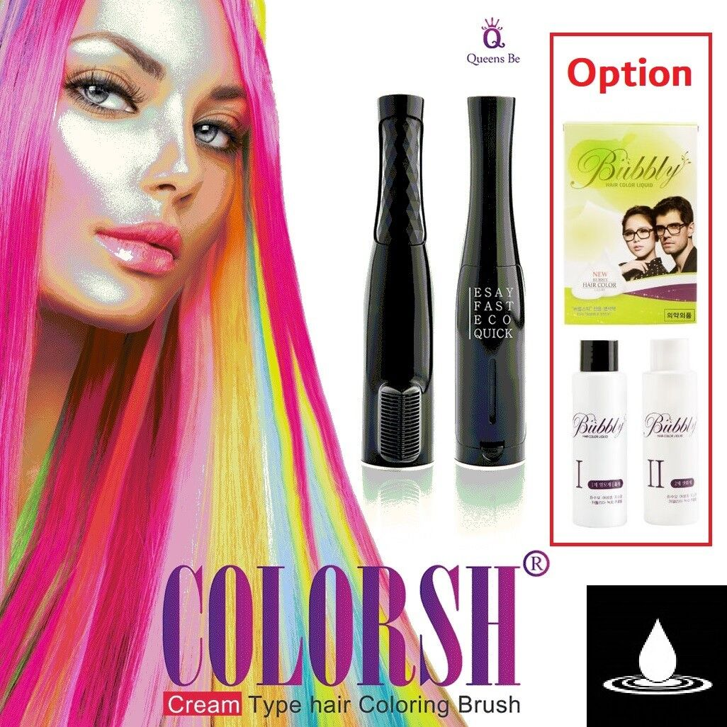 QUEENS BE COLORSH STICK Cream Type Hair Coloring Brush ECO FRIENDLY ...