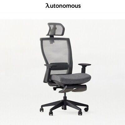 Autonomous Myochair With Headrest And Leg Rest Cool Grey Ergonomic Office Chair