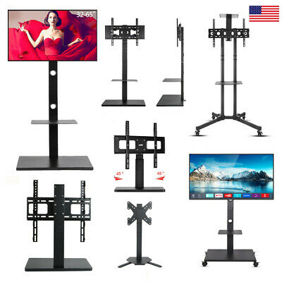 Floor Universal TV Wall Mount Stand Plasma Flat Tilt Swivel LED Bracket -