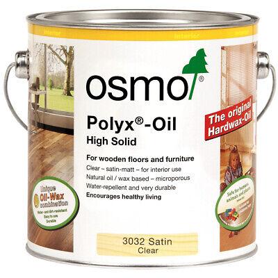 Osmo Polyx Hardwax Oil 3032 Satin 3062 Matt 3065 Semi-Matt 3044 Raw 3011 Glossy