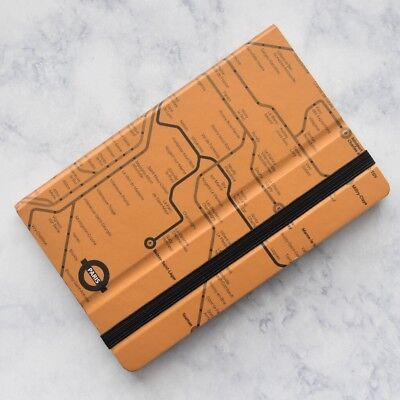 Mazzuoli Stifflexible Italy Paris Underground Orange 9x14cm Pocket Notepad