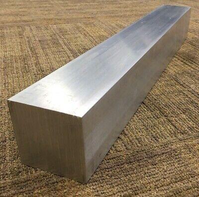 3 Thickness 6061 Aluminum Square Bar - 3 X 3 X 22 Length