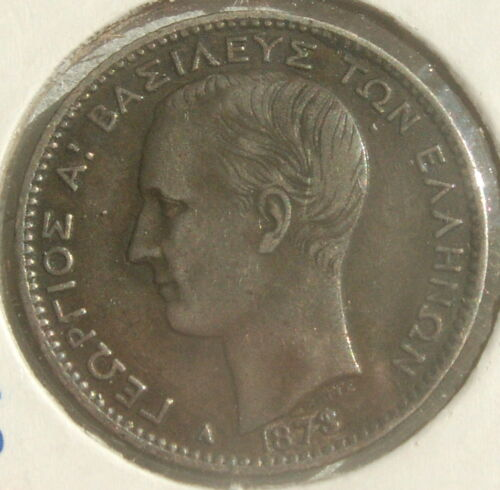 GREECE: SCARCE SILVER 1 DRACHMA  1873-A ABSOLUTELY GORGEOUS COIN