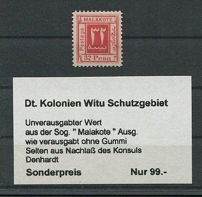 DT. KOLONIEN MALAKOTE 32 PESA unverausgabter Wert (*) m333