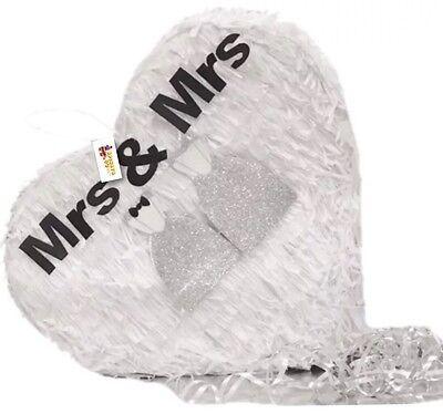 APINATA4U Mrs & Mrs Heart Pinata Wedding Party Favor LGBTQ - Wedding Pinatas