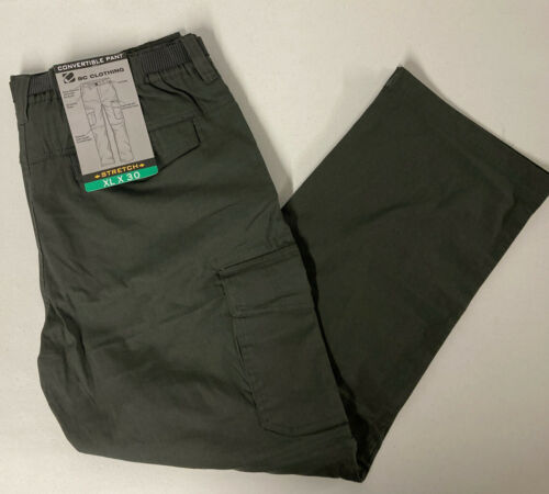 BC Clothing Men's Convertible Cargo Pants Stretch Relaxed Fi