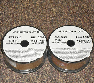 .035 E71t-11 Flux Cored Welding Wire - 4 Pounds 2x2lbs