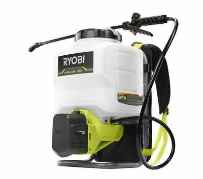Ryobi 4 Gallon Backpack Chemical Sprayer Include Battery And Charger --- New---