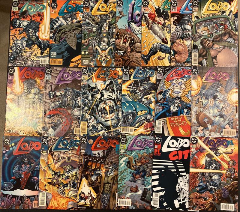 LOBO #1 -18 +0 DC COMIC BOOK ALAN GRANT 1993 THE MAIN MAN VAL SEMEIKS JOHN DELL