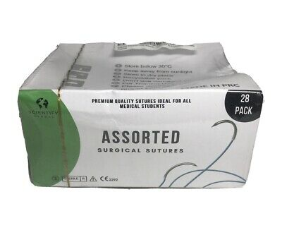 Assorted Surgical Sutures 28 Ct Premium Quality For Medical Students Preppers