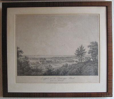 Ludwig: Zoppot mit der Danziger Rhede, gesehen vom Stiewensberge - 1825 - Litho