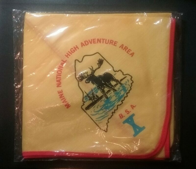 Vintage BSA Boy Scouts Maine National High Adventure Area Neckerchief Sealed NEW