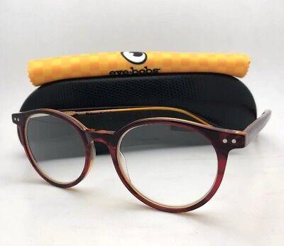 Readers EYE•BOBS Eyeglasses CASE CLOSED 2419 77 49-18 +2.75 Red Crystal Orange