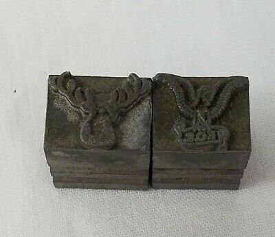 Vtg Kingsley Type Moose Lodge Bpoe Eagle Hot Foil Stamps