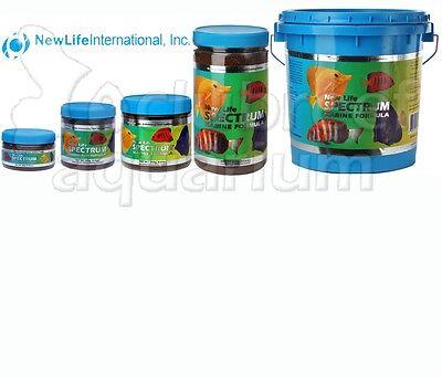 (Marine Fish Formula 1mm Pellet Color Enhancing Sinking Food New Life Spectrum )