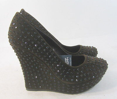 New Ladies Brown Wedge Heel - new ladies Brown Stars 5.5