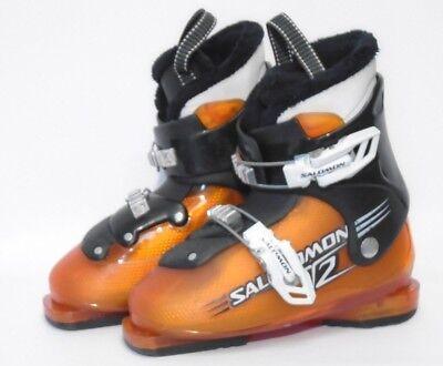 Salomon T2 Youth Ski Boots - Size 3 / Mondo 21 Used