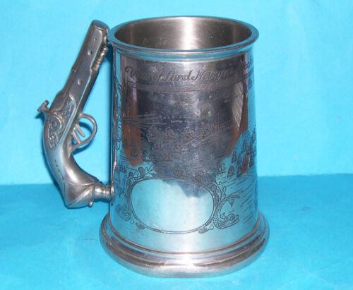 Vintage Pinder Bros Sheffield Pewter - Nelson Trafalgar Engraved Tankard (M.M).