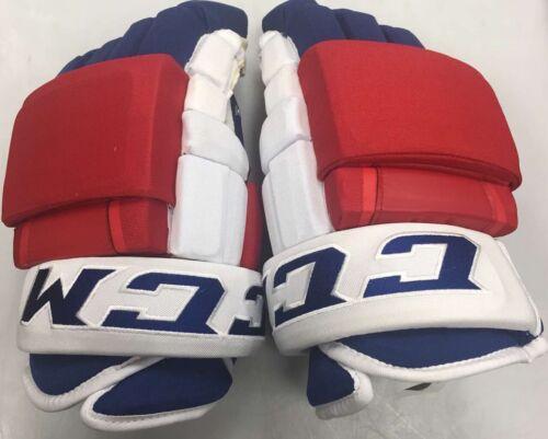 """Pro stock CCM HG97PP hockey gloves 13"""" New York Rangers Red White Blue 4roll NYR"""