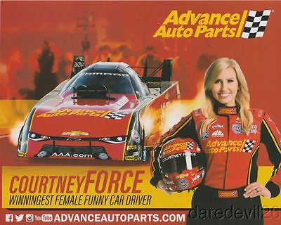 2017 Courtney Force Advance Auto Parts  2Nd Issued  Camaro Fc Nhra Postcard