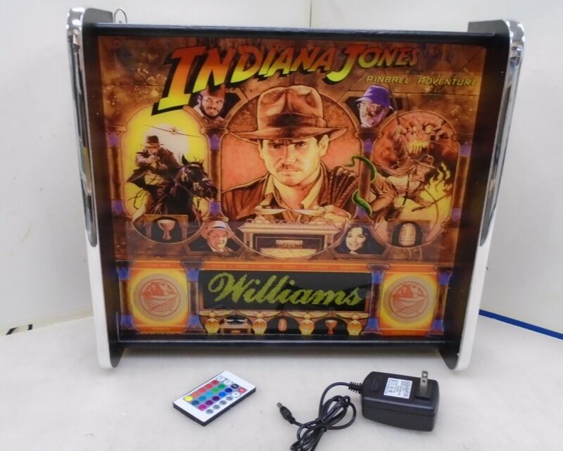 Williams Indiana Jones Pinball Head LED Display light box