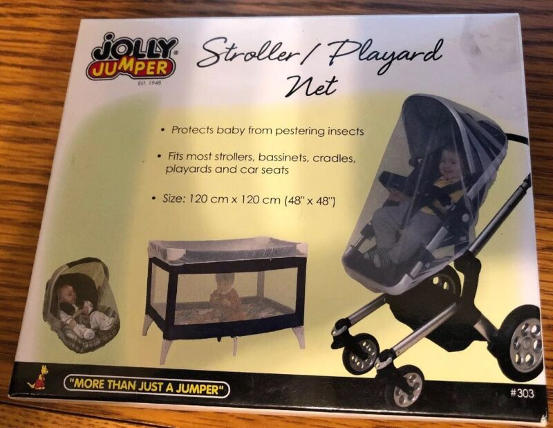 Jolly Jumper Insect Bug Net Stroller Car Seat 48x48 inches, for bed or stroller!