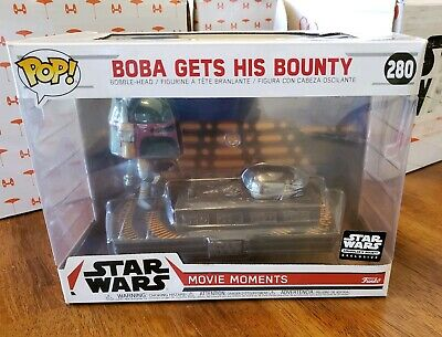 Funko Pop Star Wars Smuggler Bounty #280 Boba Fett Gets His Bounty (Han Solo) q1
